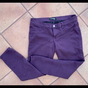 Express Purple Jeggings Size 10S